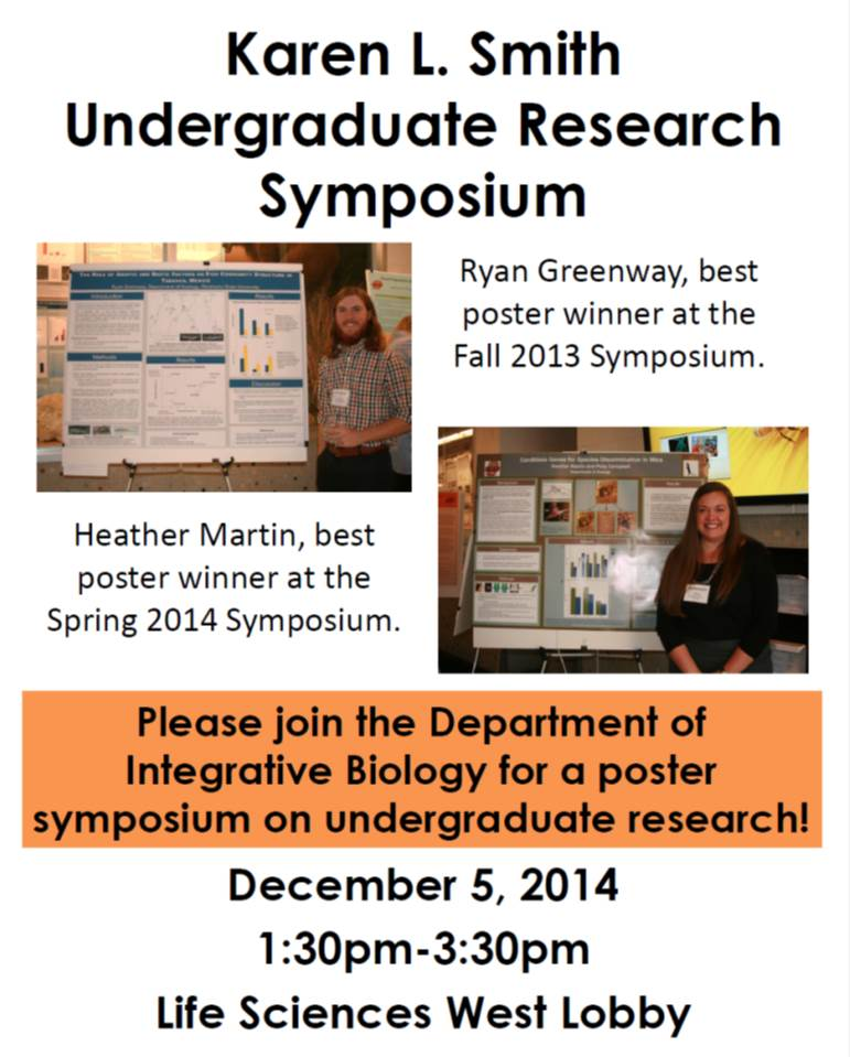 Fall 2014 Undergrad Symposium